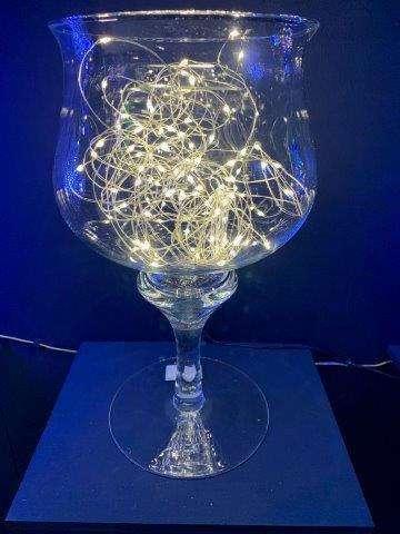 FILO 1000 LED BIANCO CALDO DA ESTERNO (mt 99,90 estensione luci + mt 4 cavo trasparente)