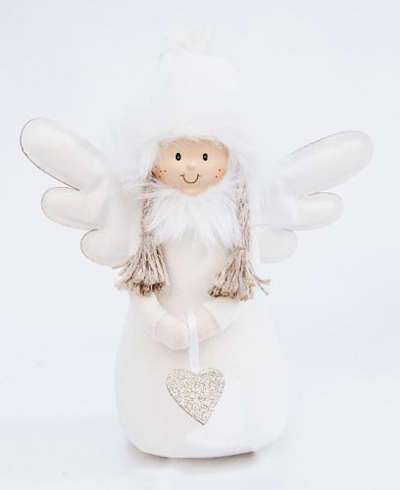 DECO ANGEL WITH HEART CREAM SMALL