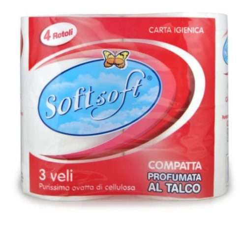 SOFT SOFT CARTA IGIENICA 4 ROTOLI 3 VELI