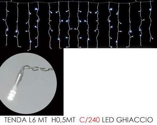 TENDA 6MT CON 240 LED GHIACCIO LX0.5MT