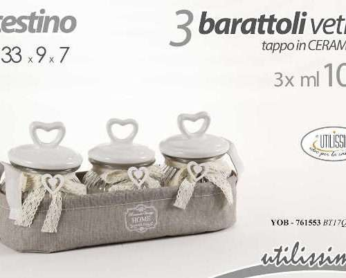 CESTINO CON 3 BARATTOLI