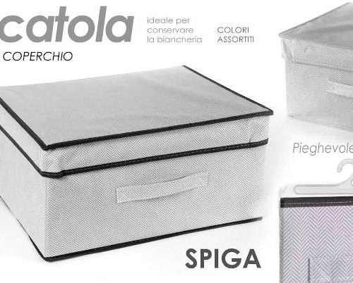 SCATOLA PIEGHEVOLE CON COPERCHIO SPIGA 40X33X20CM