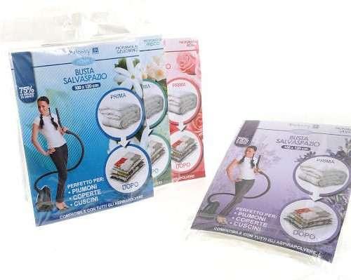 29500 - Busta salvaspazio profumata cm 100x120 fragranze assortite confezione da appenderia
