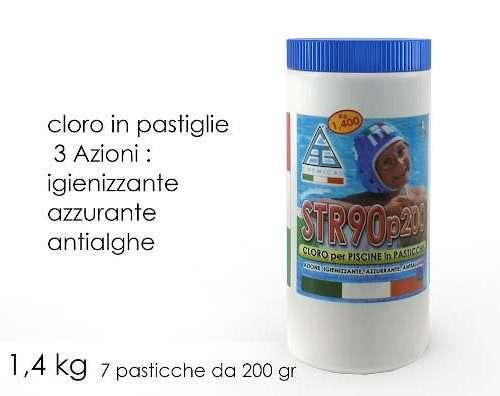 CLORO LENTO PASTIGLIE 7X200GR CONF 1.4KG
