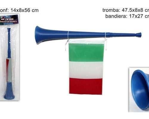 TROMBA C/BANDIERA ITALIA ART.A440-B@
