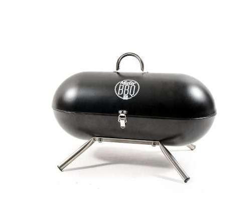 """24889 - BARBECUE PORTATILE """"MISTER BBQ"""" IN METALLO 443X22X28 CM"""