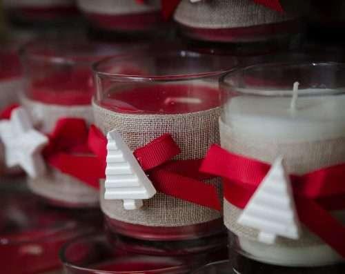 CANDELE NATALIZIE (candele a cera e batteria)